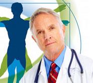 Bild mit Arzt und Logo